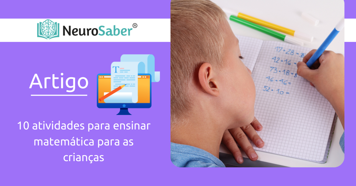 10 atividades para ensinar matemática para as crianças